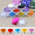YCDC 10PCS/LOT 5G Colorful Cream Jar, Empty Plastic Cosmetic Container, clear jar, Small Sample Makeup nail powder case