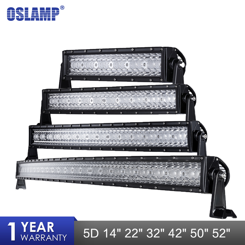 Oslamp 14 22 32 42 50 52 LED Working Light Bar Led Work Driving Lamp Headlight