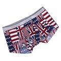 2017 Новых наукоемких мужские Комплекты Белья Мужской Моды Сексуальная Британский флаг печати Боксер Underwear Мужчин фитнес Трусы 301