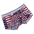 2017 New high-end Men's Lingerie Sets Male Fashion Sexy British flag printing Boxer Underwear Men fitness Underpants 301