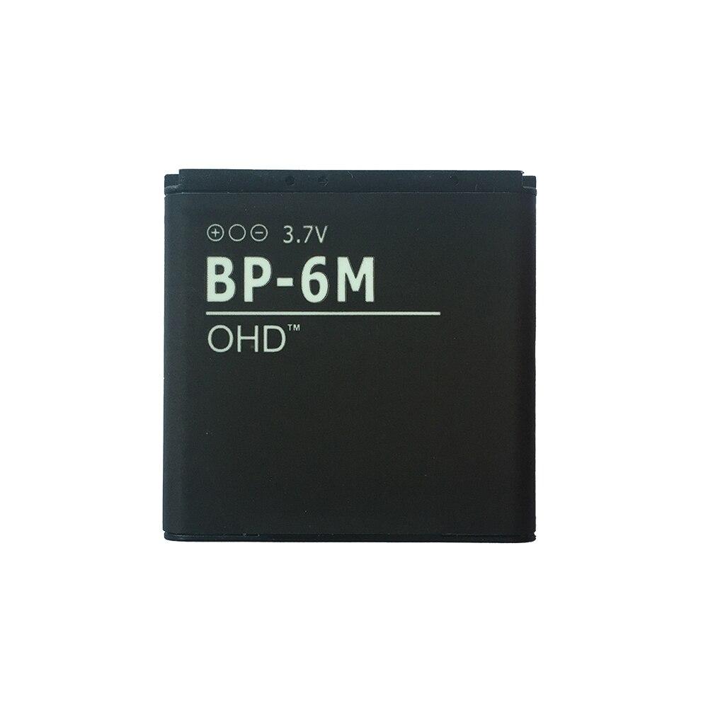 OHD OEM factory BP-6M li-polymer <font><b>phone</b></font> battery for <font><b>Nokia</b></font> N73 N77 3250 <font><b>6233</b></font> 6280 6234 N93 9300 BP6M BP 6M 3.7v 1100mah