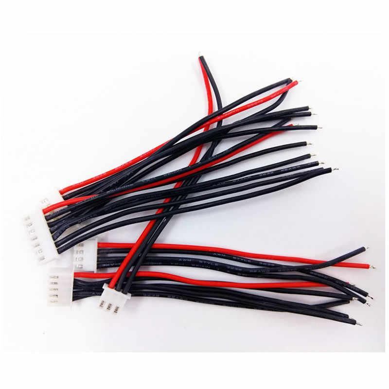 Разъем для RC Батарея 100 мм RC Lipo Батарея провод Батарея разъем 2 S 3 S 4S 5S 6s 22AWG баланс разъем для Imax B6 соединительный кабель