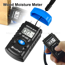 цена на HoldPeak Wood Moisture Meter Tester high Precision Needle Probe Water Content Instrument Paper Box Wood Floor Humidity Tester