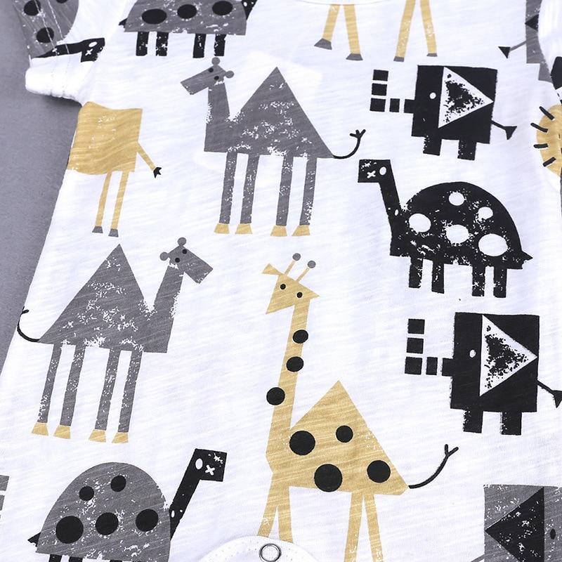 HTB1dmtuXOfrK1RjSspbq6A4pFXaB 2019 Cartoon Baby Onesies Summer Cotton Romper Boy Girls 0-24 Months Kids Clothes Knitted Cartoon Short-sleeved Jumpsuit Outfits