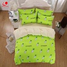 Lifeng home bedding set funda nórdica de Piña Fruta de Verano verde ropa de cama conjunto watermolen conjunto hoja plana reina juego de cama plátano
