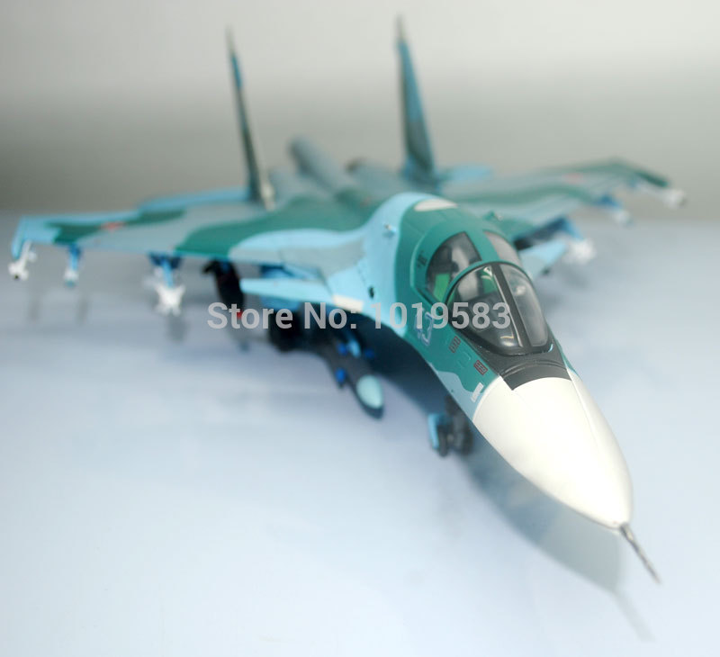 Brand New Terebo 1/72 Scale Fighter Model Toys Russia SU-34 (SU34) Flanker Combat Aircraft Diecast Metal Plane Model Toy russia airforce t50 af1 multi purpose fighter aircraft model russian fifth generation fighter aircraft model 1 72