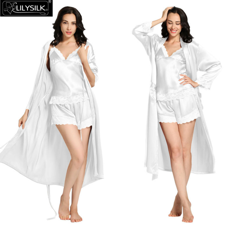 1000-white-22-momme-lace-silk-camisole--dressing-gown-set -