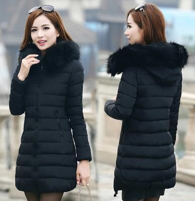 Pato cuello de piel chaqueta de abrigo de Mujer gran tamaño 5XL 6XL Manteau Hiver Femme Abrigos y Chaquetas Mujer Invierno 2015