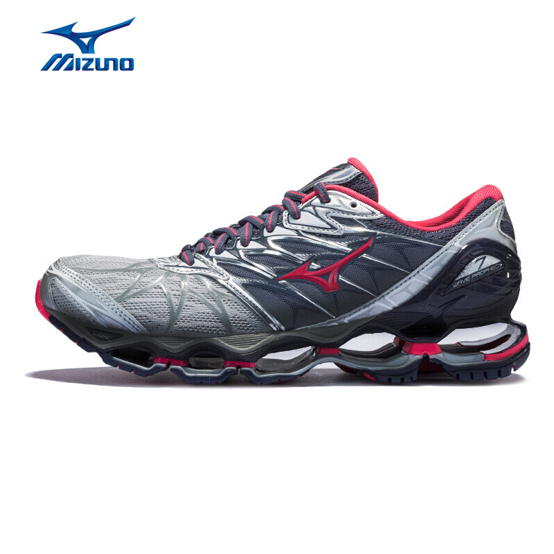 MIZUNO Women PROPHECY 7 Running Shoes Breathable Cushion Professional Sports Shoes Wearable Sneakers J1GD180064 XYP614 mizuno men rebula v3 ag professional cushion soccer shoes sports shoes comfort wide sneakers p1ga178603 yxz069