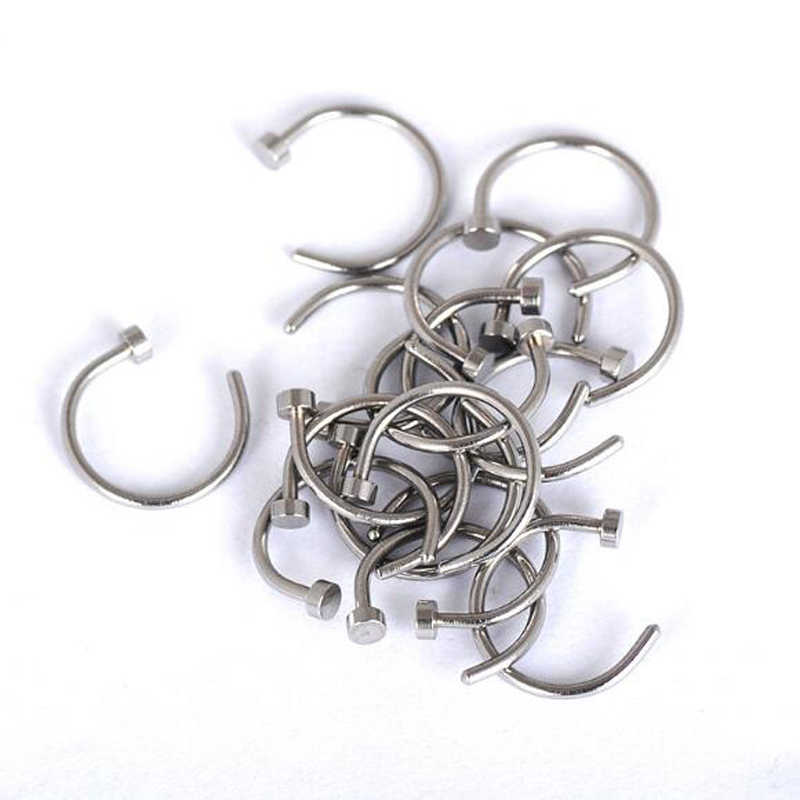 New explosion ear ear bone needle male and female supplier small section stainless steel C-shaped nose ring