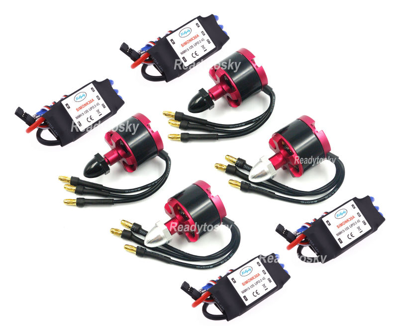 4x 30A Simonk ESC + 2212 920KV Outrunner Brushless Motor for S500 S550