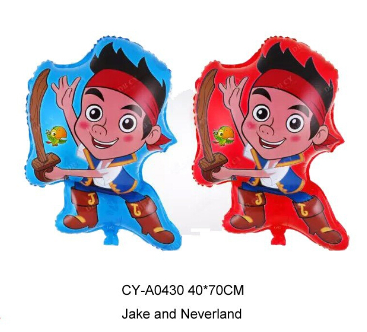 40*70cm 10pcs/lot Jake and The Neverland Foil Balloons