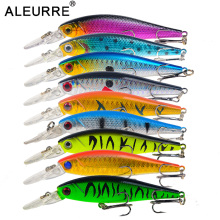 10cm 9g Minnow Hard Fishing Lure Floating Isca Artificial Diving 1.8M Whopper Bass Lures Plastic Wobbler Crankbait Pesca popper