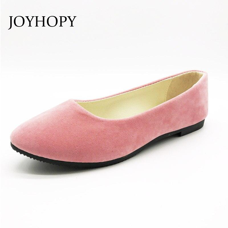 Joyhopy 20 Цвета Весна стая Женская обувь на плоской подошве Женская повседневная обувь с круглым носком женские слипоны Лоферы Большой размер 40 41, 42, 43