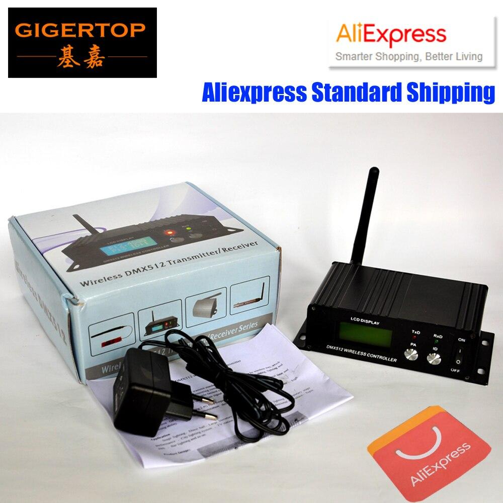 TIPTOP LCD DMX512 contrôleur sans fil 2.4G Dmx transmetteur/récepteur sans fil contrôle tête mobile éclairage, 3PIN Dmx prix pas cher