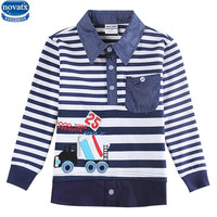 Novatx A5832 2017 new arrival kids wear Boys shirts children's clothes cotton boys long sleeve shirt with cool picture hot top