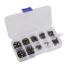 Hohe Carbon Material Angeln Haken Boxen Anzug Combo 210 teile/satz Angeln Wirbel Set Fisch Werkzeug Zubehör Angelgerät