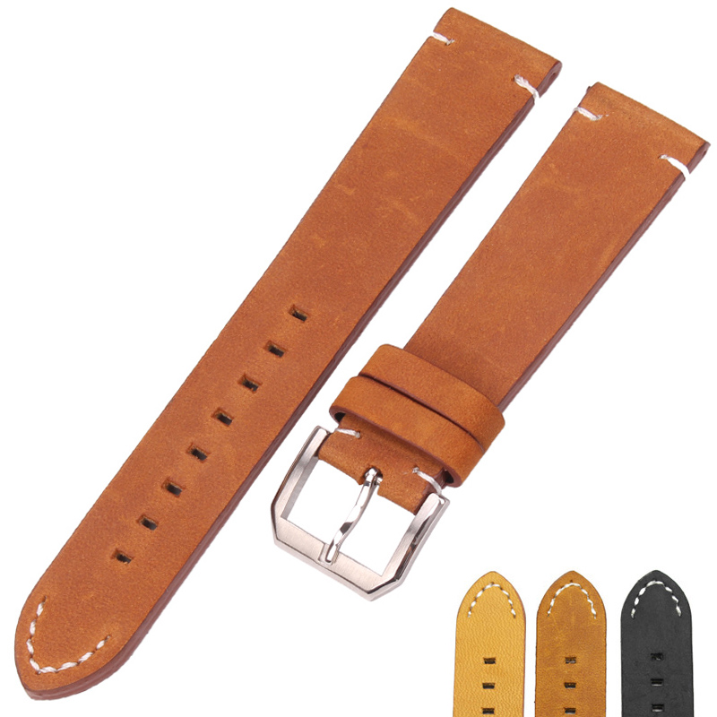 Italy Calf Leather Watch Strap 20mm 22mm Genuine Leather Watch Band Bracelet With Stainless Steel Pin Buckle For IWC For Omega nylon watchband 20mm 22mm watch strap stitched wristwatches band bottom is genuine leather bracelet pin buckle accessories