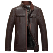 Italian Style Mens Leather Jacket Coats Famous Brand Mens Warm PU Winder-Breaker Fashion Collection Leather Coats For Men C306