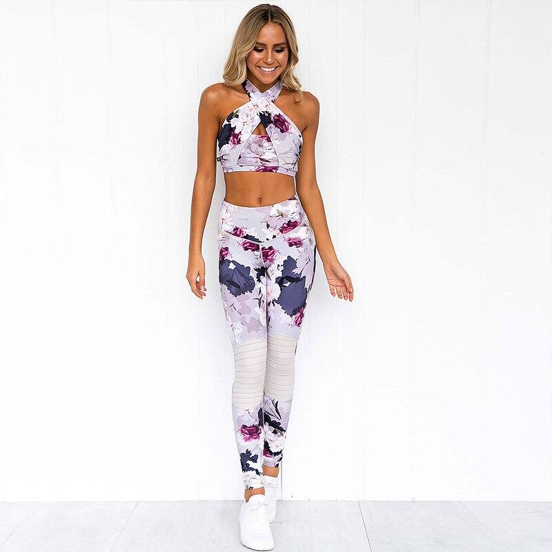 Mulheres Sportswear Define Floral Terno De Fitness para Ginásio Yoga Feminino Roupas de Corrida Ternos Roupa de Treino Esporte Mulher Macacão, ZF224