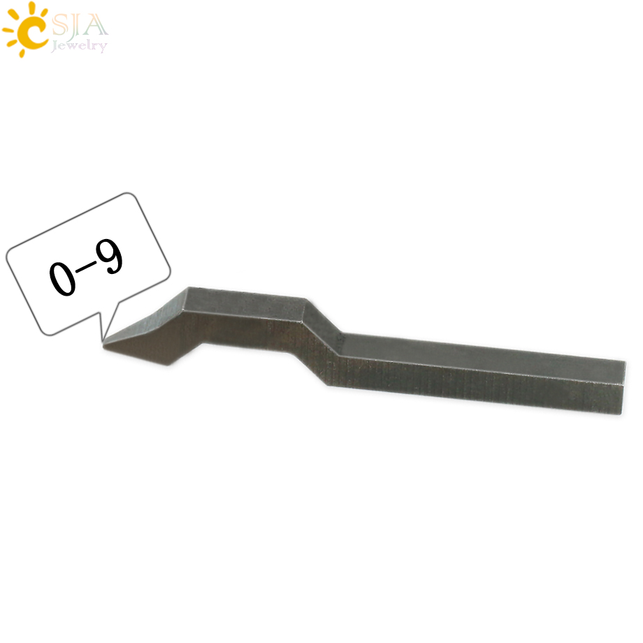 CSJA 0 1 2 3 4 5 6 7 8 9 0-9 Arabic Numeral Steel Curved Punch Stamp Tool For Inside Ring Earring Bracelet Jewelry Marking E176
