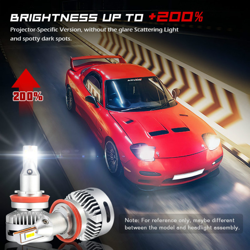Novsight Car Light 90w 12000lm 6500k Led H7 H11 D1 D2 Led Headlight 9005 Hb3 9006 Hb4 9012 D5 Auto Blub Super Bright Dc 9v 22v in Car Headlight Bulbs LED from Automobiles Motorcycles