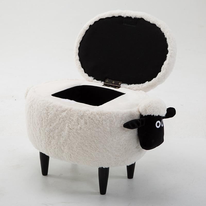 Vente chaude Boîte Organisateur organisateur Tabouret Commode En Bois Ménage Canapé Lavable Moutons Europe 150 kg Polygone Articles Divers