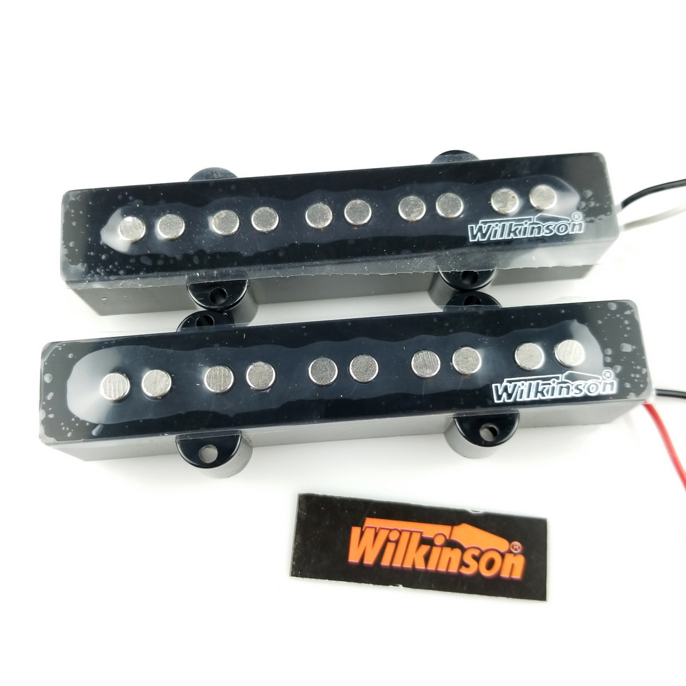 Free Shipping Wilkinson Lic Vintage 5 string JB electric bass pickups five string J Bass pickups MWBJ5 N/B free shipping wilkinson lic vintage single coil pickup fit mwvsn m b
