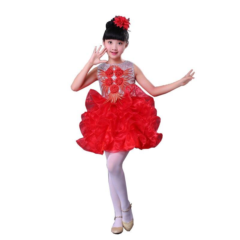 1689 15 De Descuentonuevo Traje De Baile Moderno Para Niñas Vestido De Baile De Salsa Para Niñas In Ballet From Novedad Y Uso Especial On