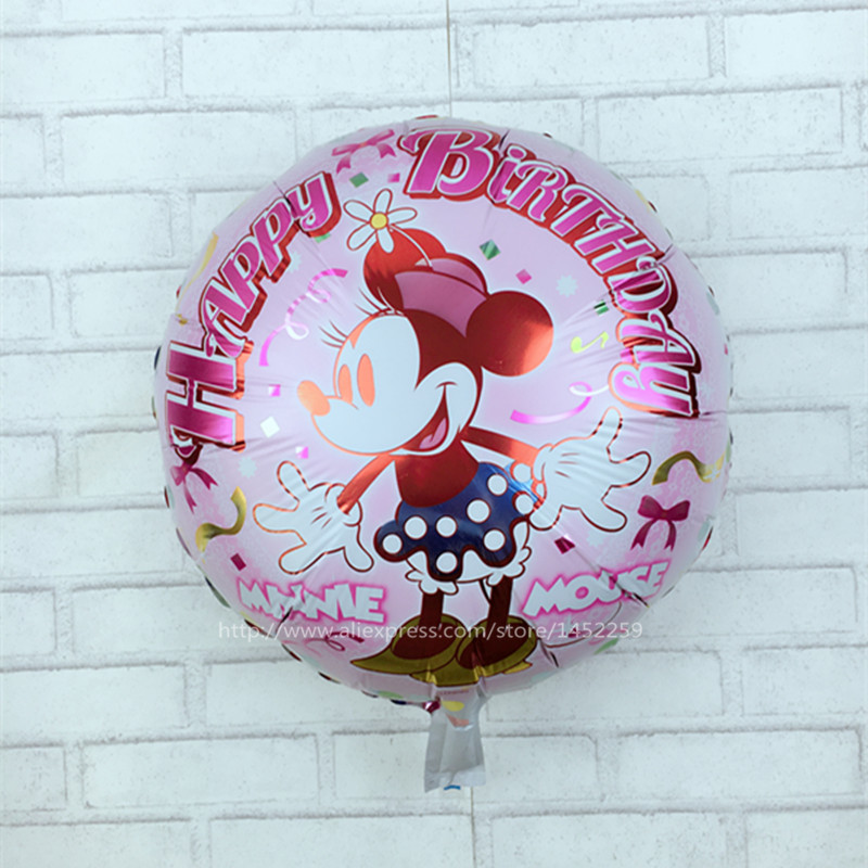 XXPWJ new cartoon balloons 5pcs / lots18 inch Mickey Minnie Mouse birthday party balloons wholesale childrens toys K-019