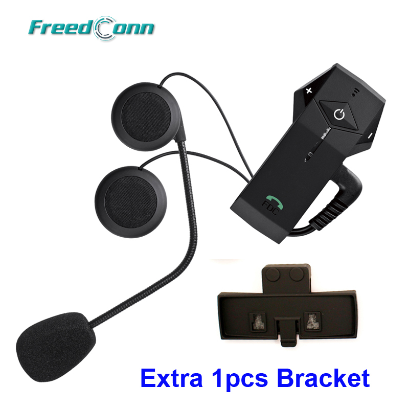 Free Shipping Original FreedConn brand Motorcycle Helmet Bluetooth 1000M Intercom Headset NFC FM Radio Extra 1pcs