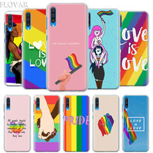 Gay Lesbian LGBT Rainbow Pride Case Cover for Samsung Galaxy A30 A40 A50 A70 A6 A8 Plus A7 A9 2018 M30 Phone Case Coque(China)