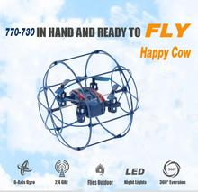 Mini RC Drone 777-370 Remote Control Helicopter With Headless Mode 2.4G 6-Axis Gyro RTF 4CH RC Wall Climbing Fly Quadcopter Toy