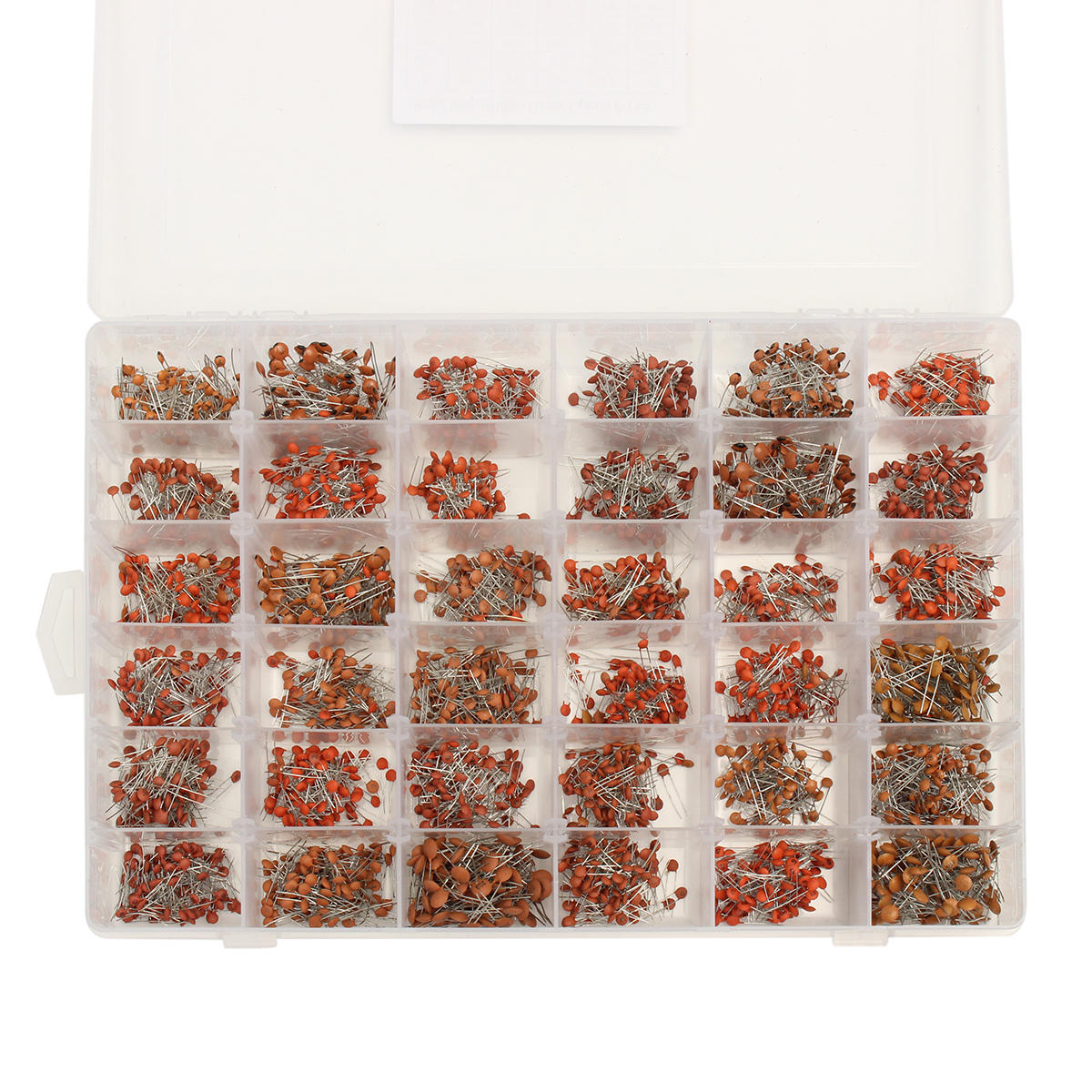 3600pcs/lot 1PF-100nF Ceramic Capacitor Assortment Kit 10PF 22PF 33PF 47PF 100PF 330PF 470PF 1NF 10NF 47NF 50V Capacitors Set