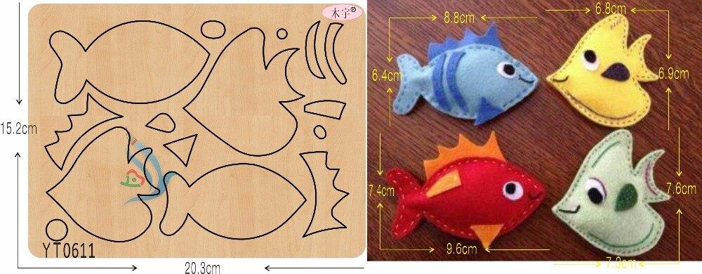 Couleur petit poisson bricolage nouveau moule en bois coupe matrices pour scrapbooking épaisseur/15.8mm/YT0611-in Matrices à découper from Maison & Animalerie    1