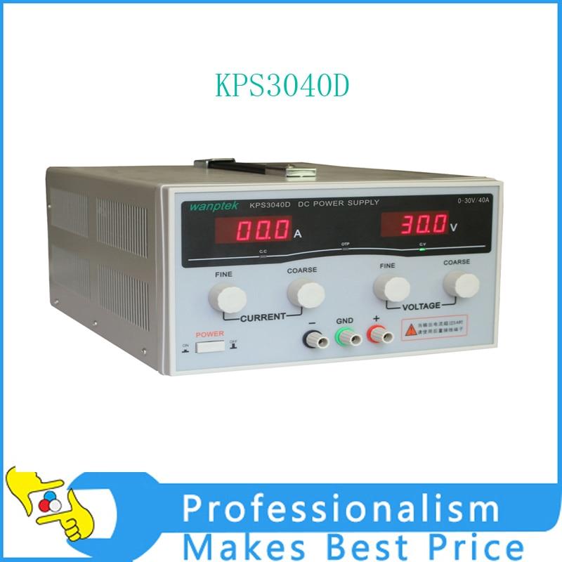 KPS3040D High precision High Power Adjustable LED Dual Display Switching DC power supply 220V EU 30V/40A kps 3060d dc power supply 30v 60a adjustable power supply 30v 60a led high power switching variable dc power supply 220v