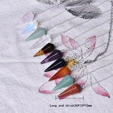 100%Natural Rock cone pendant aura chakra cutting DIY pendant necklace crystal stonedecoration gift stone