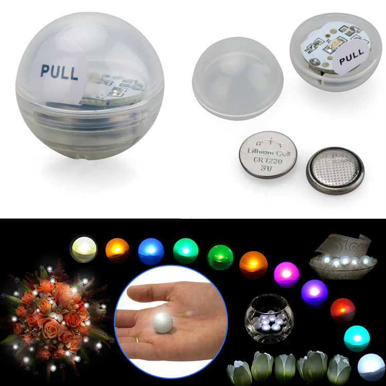 12Pcs* Garden Lamps Fairy Pearls Mini Led Light Wedding Party Decoration 2cm Multicolor Small Led Waterproof Floating Led Lights