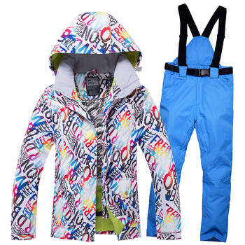 2018 WELIVENICE Winter Snow Skiing Jacket Ski Suit Snow Windproof Waterproof Clothes And Pants Snowboard ets