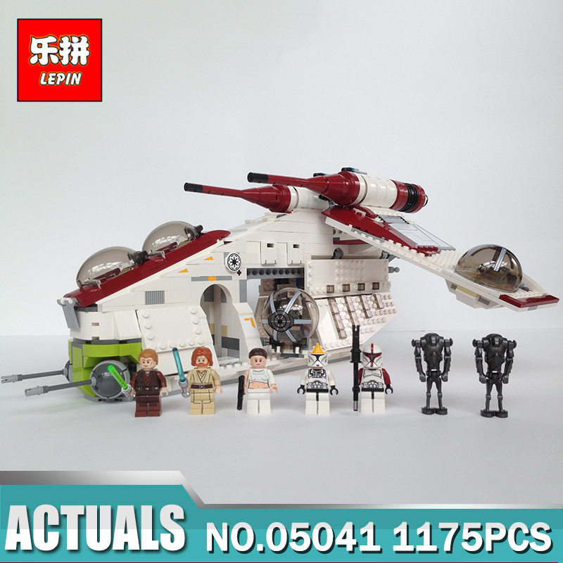 LEPIN 05041 Star-Wars The Republic Gunship Building Block 1175Pcs Educational Toys For Children Compatible Legoing 75021 anime high school sexy himejima akeno model figure toy pvc action figure collection model toys for gift