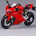 1:12 Modelos de Ducati 1199 Panigale Motocicleta Diecast Rojo Vehículo de Juguete para Niños regalos y Artesanías de Decoración Hotsales Freeshipping