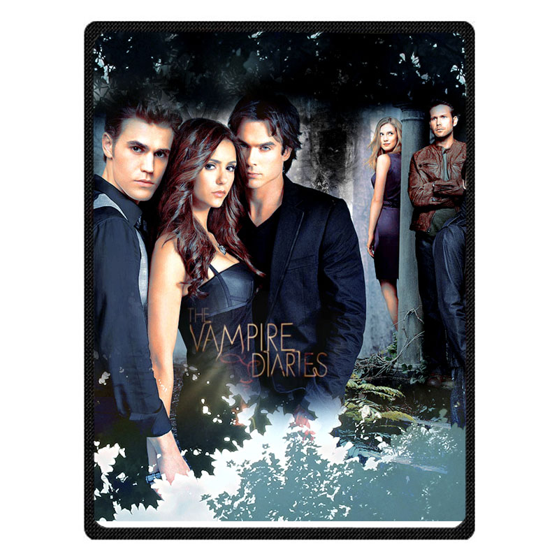Comfortable The Vampire Diaries Personalized Blanket Sofa Bed Throw Blanket Kid Adult Warm Blanket Children Quilt