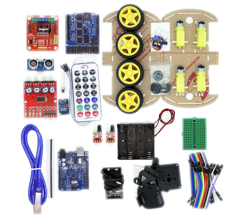 Multi functional wd robot car kits sensor board