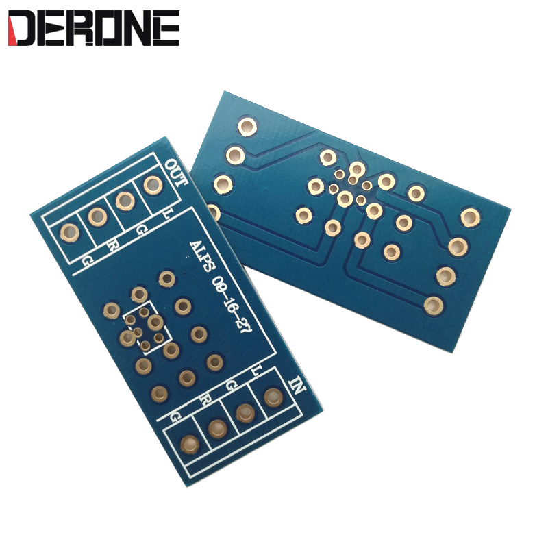 2 Piece Potentiometer PCB For Amplifier PCB For ALPS 9 Type 16 Type 27 Type 2 Side Gold Plated