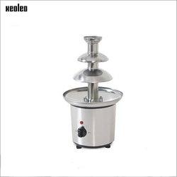 XEOLEO Triple Chocolate Fountain Chocolate Melting Machine Stainless Steel Fountain Machine for Wedding/Birthday Party 2000W