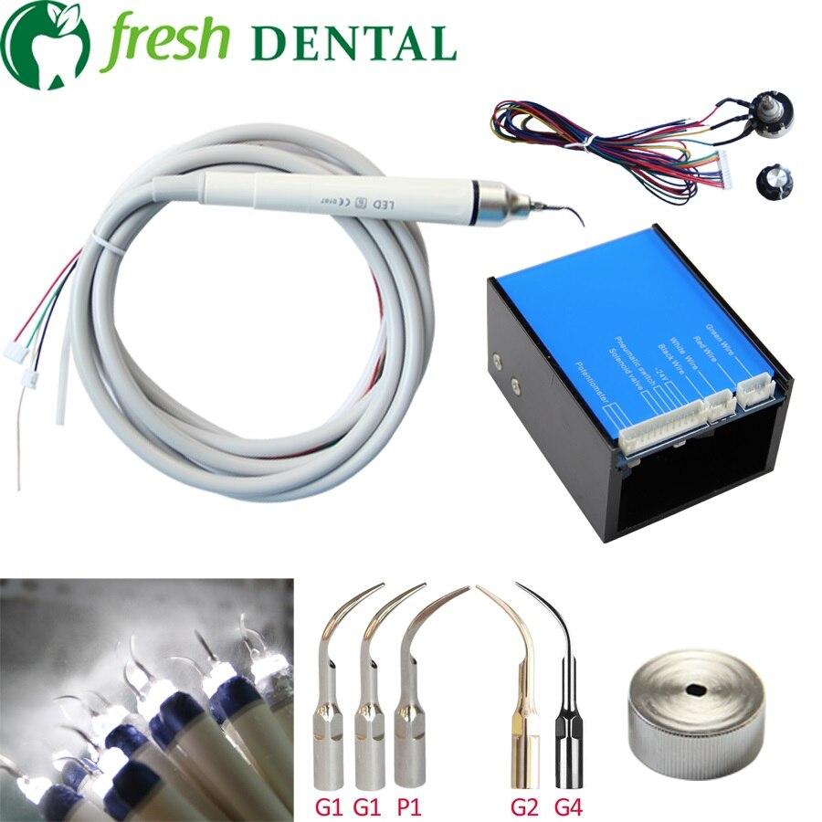 1 set Fit EMS Picchio pulitore dentale igiene orale in pulizia dei denti e sbiancamento dei denti per la sedia dentale Con Led luce L9