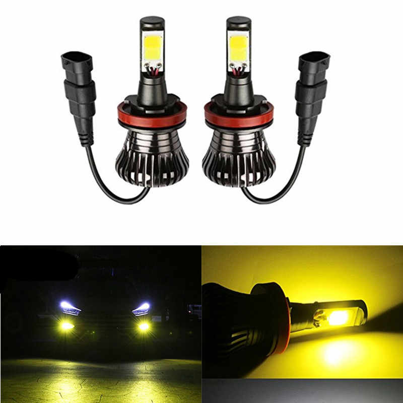 2pc Car Led lamp H3 H11 H8 H27 880 881 Hb3 9005 Hb4 9005 Fog Lamps Led Auto Bulbs Front Fog lights golden white ice blue 12v