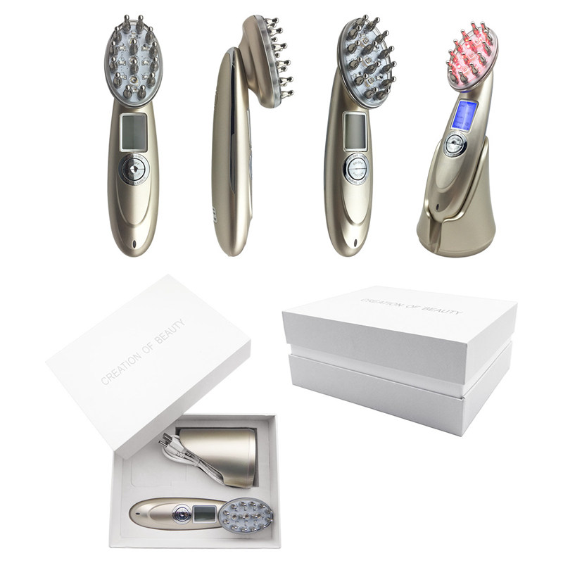 Portable Photon USB Rechargeable Charging Laser Comb Vibrating Scalp Massage Hair Regrowth Stimulate Brush Hair Massage Machine 2pcs pack hair regrowth laser comb brush alopecia scalp therapy massage remove dandruff hair repair regrowth device health care