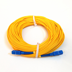 Frete grátis 30m sc upc cabo de remendo fibra óptica monomode cabo fibra óptica jumper SC-SC singlemode simples 3mm