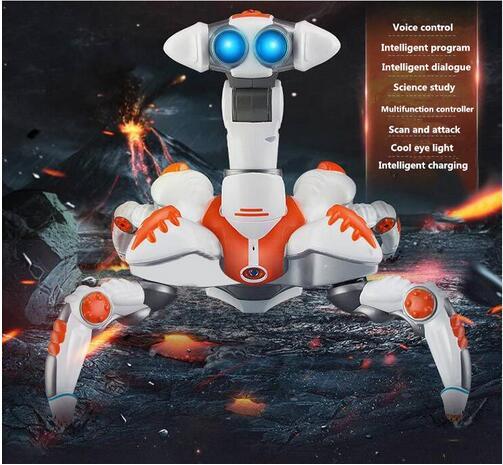 Di controllo remoto del robot giocattolo educativo modello di danza musica elettrica rotante e la danza Leggero robot Elettronico per il regalo del capretto - 2